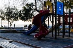 孩子操场在国家土耳其 免版税库存图片