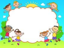 孩子文凭证明背景设计模板 库存图片