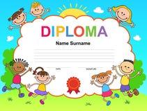 孩子文凭证明背景设计模板 图库摄影