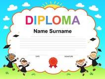 孩子文凭证明背景设计模板 库存照片