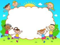 孩子文凭证明背景设计模板 免版税库存图片