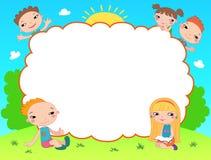 孩子文凭证明背景设计模板 免版税图库摄影