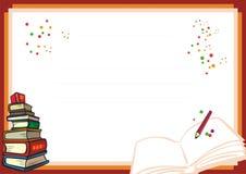 孩子新文凭的设计-和乐趣 库存图片
