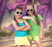 孩子时尚画象 库存照片