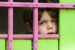 孩子是单独和惊吓 免版税库存照片