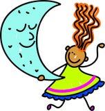 孩子月亮 免版税库存照片