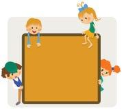孩子框架通知 向量例证
