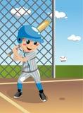 孩子棒球面团 免版税库存图片
