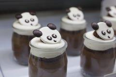 孩子概念的动物形状的甜点 免版税库存照片