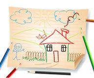 孩子模式学校无缝的向量 免版税库存照片