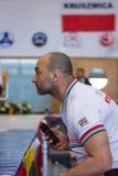 孩子欧洲冠军Kyokushin世界联合KWU和青年时期的2017年 免版税库存图片