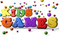 孩子比赛 免版税库存照片