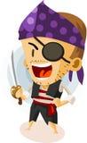 孩子海盗作用 皇族释放例证