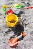 孩子海滩玩具 免版税库存图片