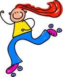 孩子溜冰鞋 图库摄影