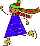 孩子滑冰 库存照片