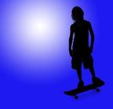 孩子滑板 免版税库存照片