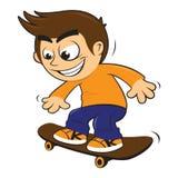 孩子滑板 库存例证