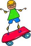 孩子滑板 向量例证
