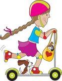 孩子滑行车 免版税库存照片