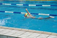 孩子热游泳池的 库存照片