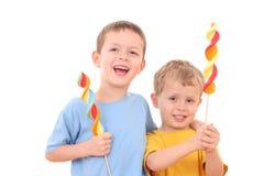 孩子爱甜点 免版税库存图片