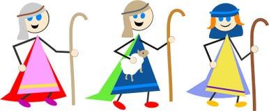 孩子牧羊人 库存照片