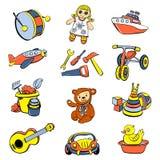 孩子玩具儿童象设置了,动画片样式 向量例证
