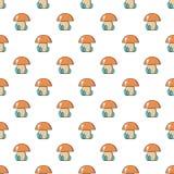 孩子玩具无缝蘑菇的样式 免版税图库摄影