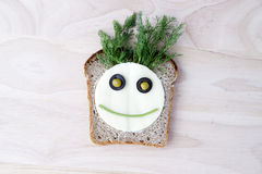 孩子的三明治 图库摄影