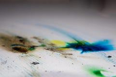 孩子的五颜六色的烟爆竹 烟颜色纹理 免版税库存照片