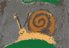 孩子的传染媒介蜗牛 库存图片