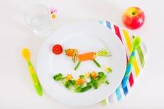 孩子的健康午餐 免版税库存图片