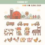 孩子的农厂和农业infographic元素 免版税图库摄影