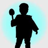 孩子的剪影 免版税库存照片