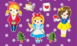 孩子的动画片公主 免版税库存照片