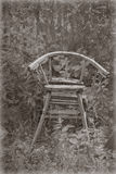 孩子的古老椅子 库存图片