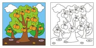 孩子的可爱的自然彩图 向量例证