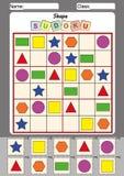 孩子的图片sudoku,剪贴 免版税库存图片