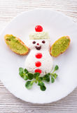 孩子的圣诞节早餐 免版税库存照片
