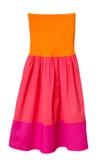 孩子的夏天时尚礼服 免版税图库摄影