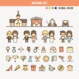 孩子的婚姻的infographic元素 免版税库存照片