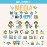 孩子的媒介和新闻infographic元素 免版税库存图片