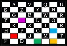 孩子的字母表棋 例证,背景 库存例证