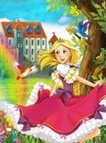公主-美好的Manga例证 免版税库存照片