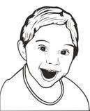 孩子的愉快的面孔,少年 流行艺术例证,孩子的愉快的面孔,少年 皇族释放例证