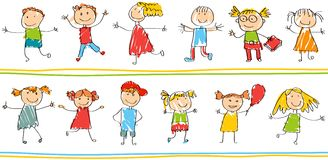 孩子的无缝的装饰样式 向量例证