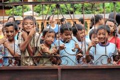 孩子的无辜的面孔 免版税图库摄影