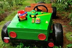 孩子的汽车,手工制造 免版税库存图片