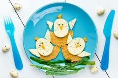 孩子的滑稽的复活节食物 库存照片